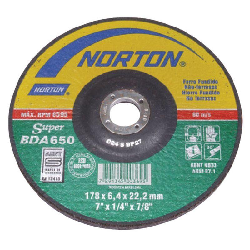 DISCO DESBASTE REFRAT 9 230BDA650 NORTON - CASHBACK