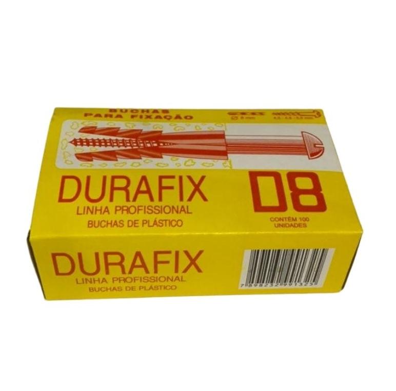 BUCHA NYLON D-8 (CX C/ 100) DURAFIX