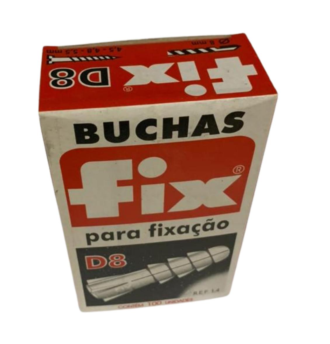 BUCHA NYLON D-8 (CX C/ 100) FIX