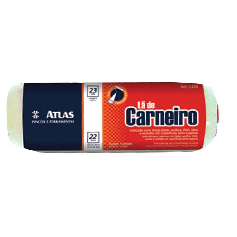 ROLO LA NATURAL CARNEIRO S/CABO 23CM 328/22 ATLAS