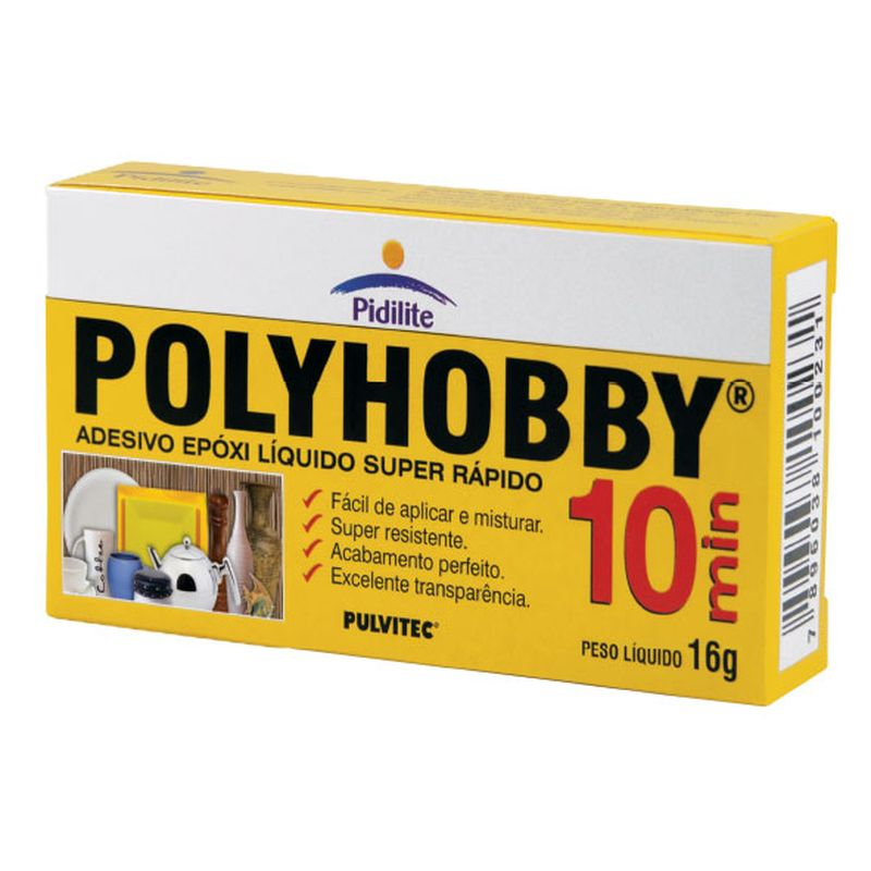 COLA POLYEPOX LIQ 16G 10MIN EA015 PULVITEC