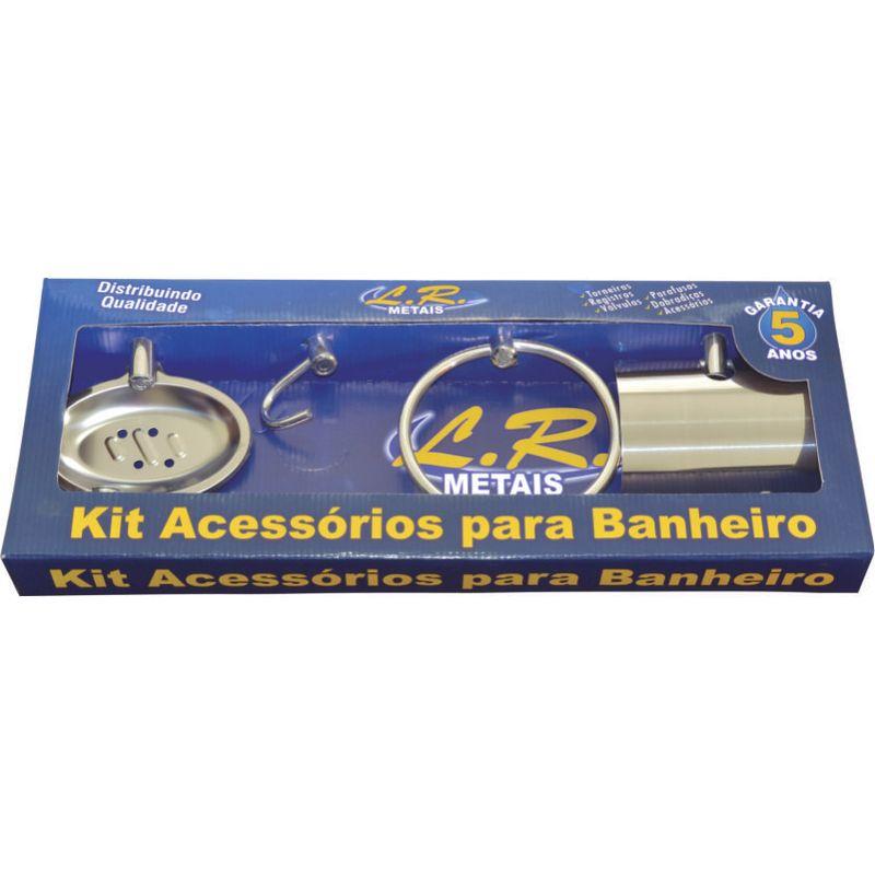 KIT P/ BANHEIRO 5 PCS METAL JUNIOR LR METAIS