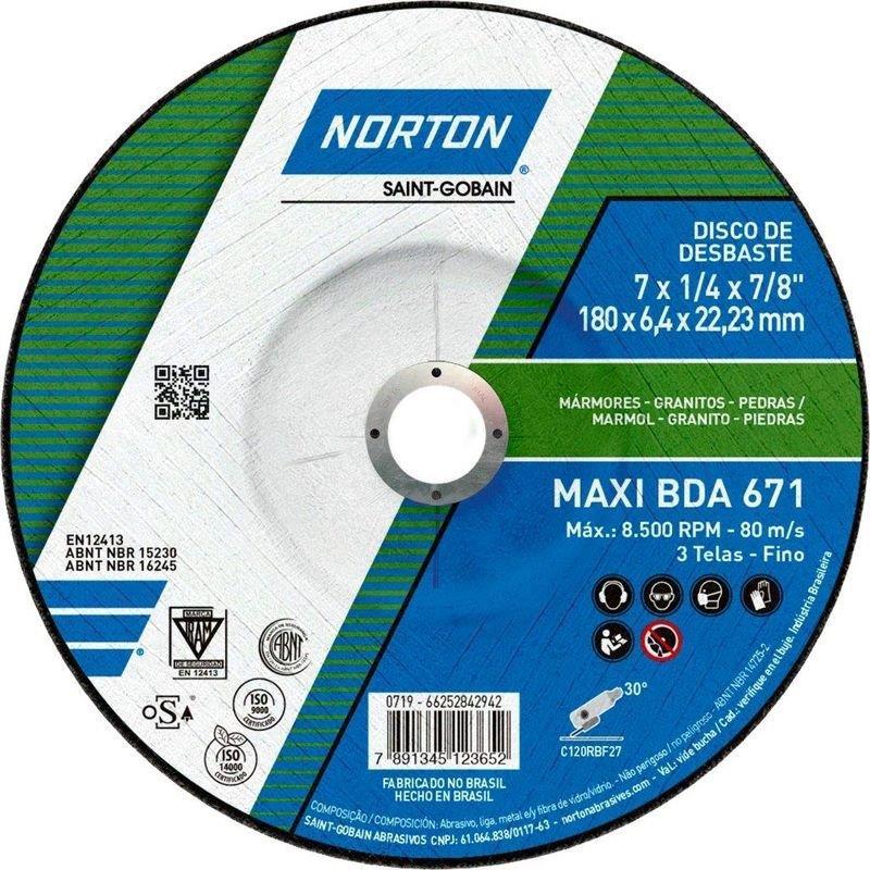 DISCO DESBASTE PD 7 180BDA671 G120 MAXI NORTON