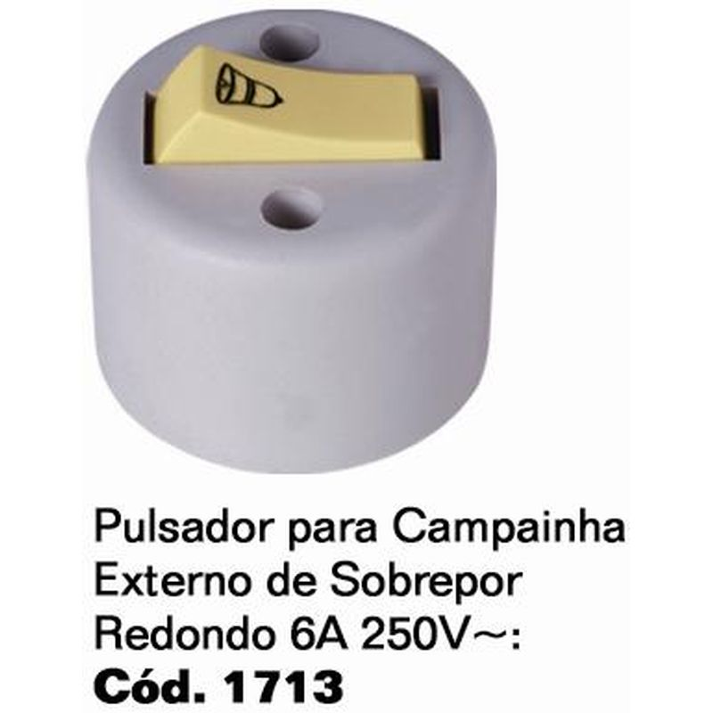 PULSADOR P/ CAMP SOBREP RED CZ 1713 ILUMI