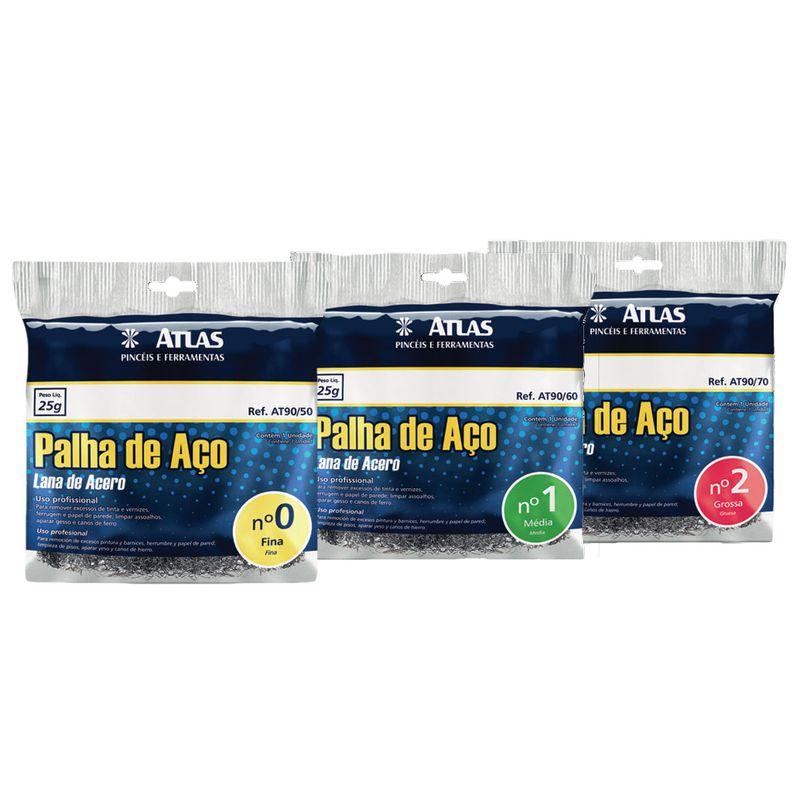 PALHA ACO NR 2 PCT C/ 20 ESPONJAS ATLAS