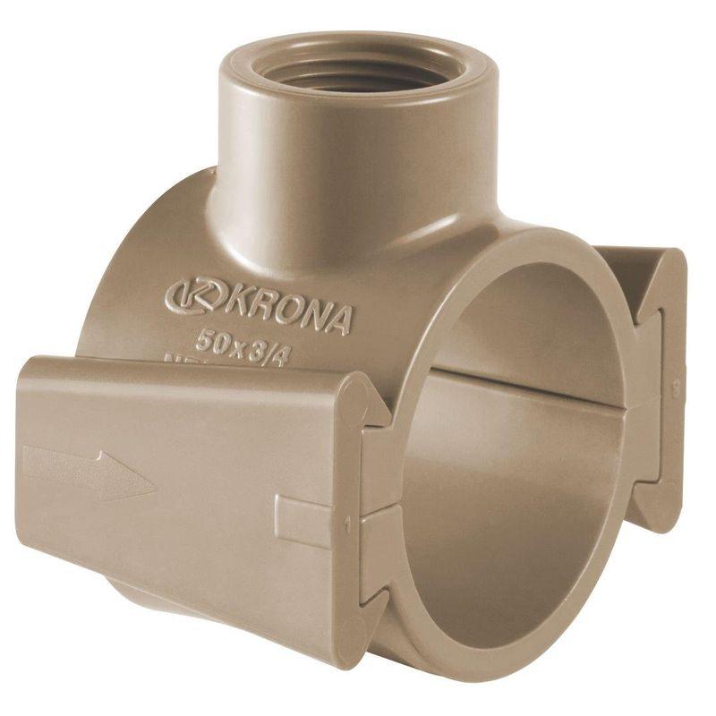 COLAR TOMADA PVC C/ TRAVA 50X1/2 1324 KRONA