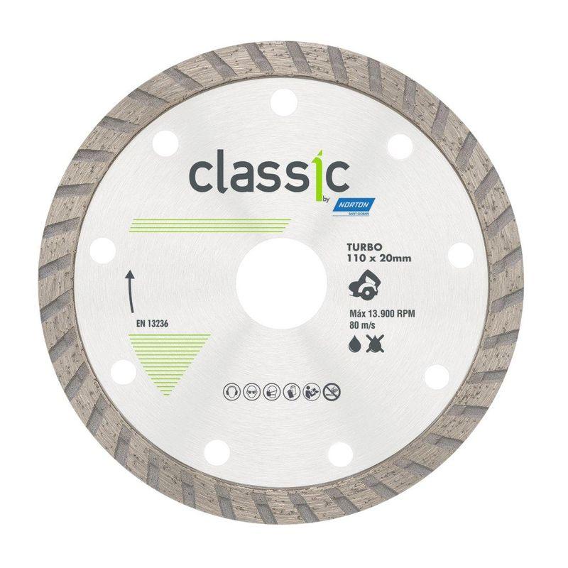 DISCO DIAMANTADO CLASSIC TURBO SECO/REFR 110X20 NORTON  - AB