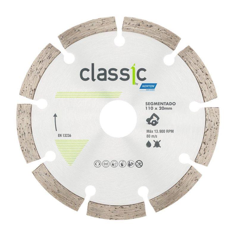 DISCO DIAMANTADO CLASSIC SEG SECO/REFR 110X20 NORTON  - AB