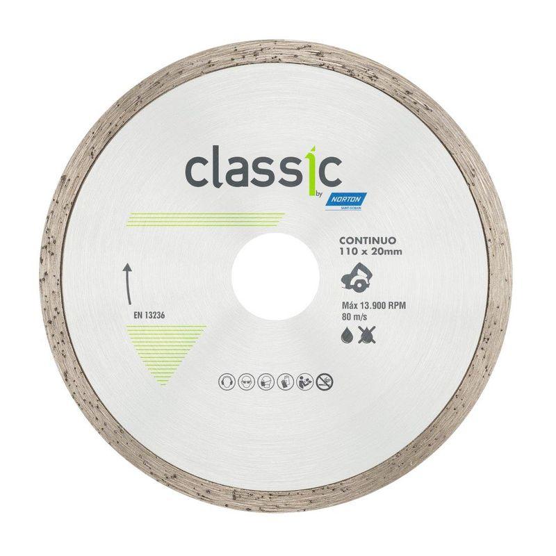 DISCO DIAMANTADO CLASSIC CONT SECO/REFR 110X20 NORTON - AB