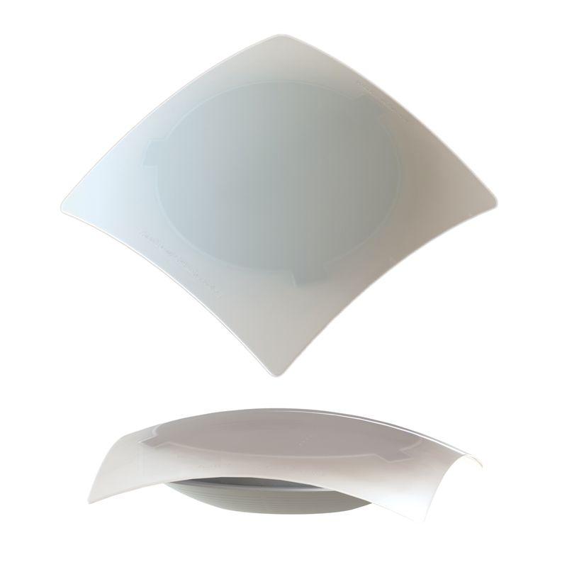 LUMINARIA PRESTIGE QUAD. P/ 1 LAMP. BR 16095 ILUMI