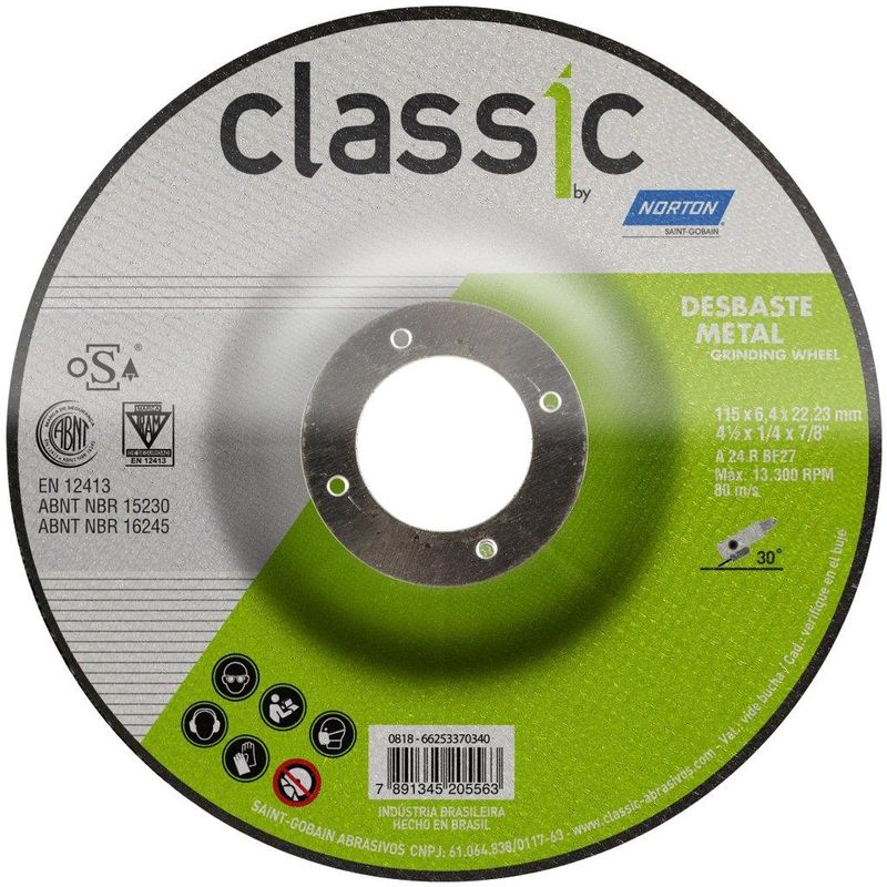 DISCO DESBASTE FE 4.1/2 115BDA600 CLASSIC NORTON
