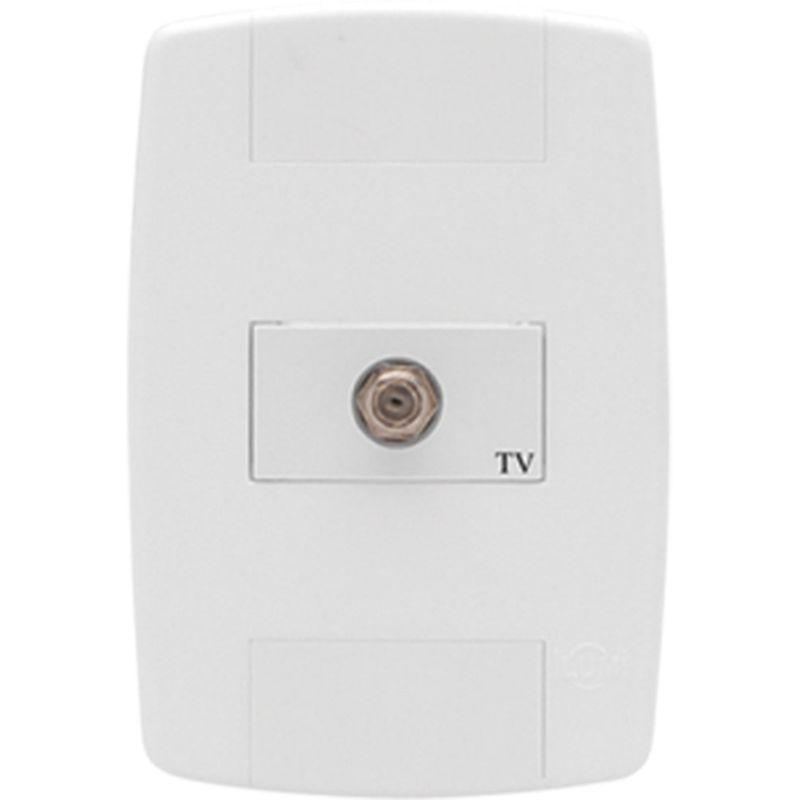 TOMADA CONECTOR ANTENA TV HORIZ BR 8763 LEV ILUMI