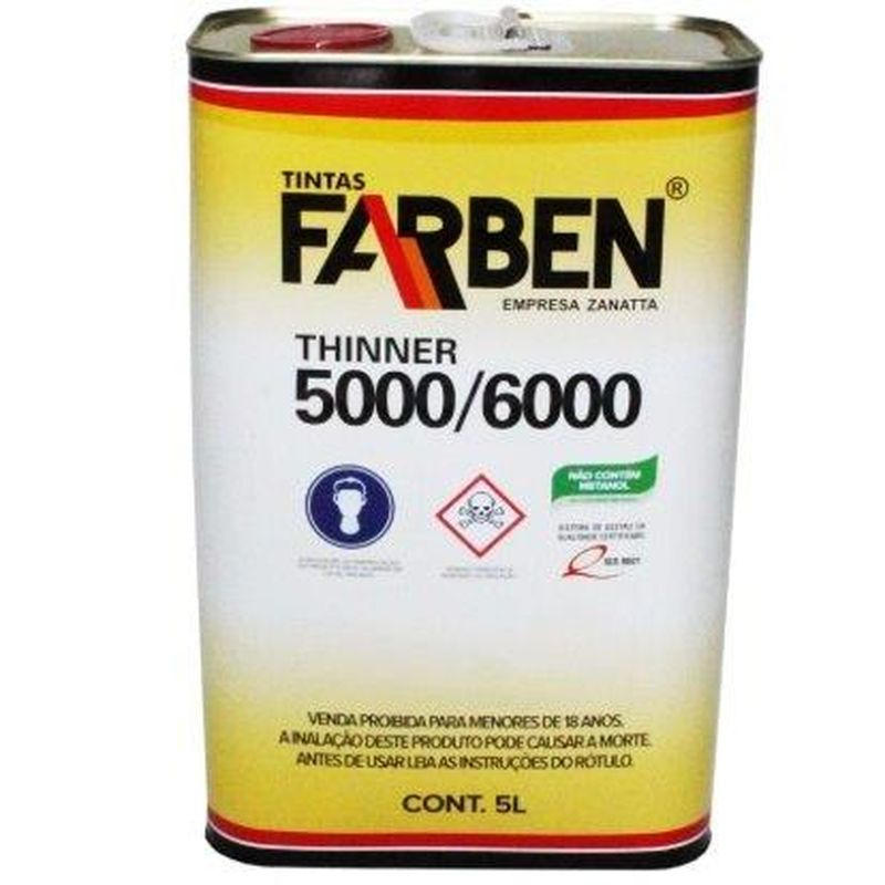 DILUENTE (THINNER) 5 LT LAT FARBEN