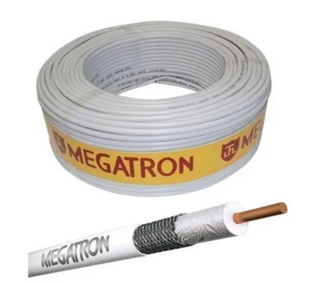 CABO COAXIAL 59 75 OHMS 47% ROLO C/ 100MT MEGATRON