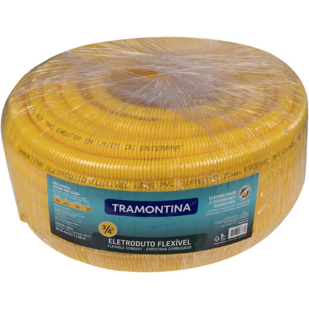 ELETRODUTO CORRUGADO AM 3/4 25MM C/ 50M TRAMONTINA- AB