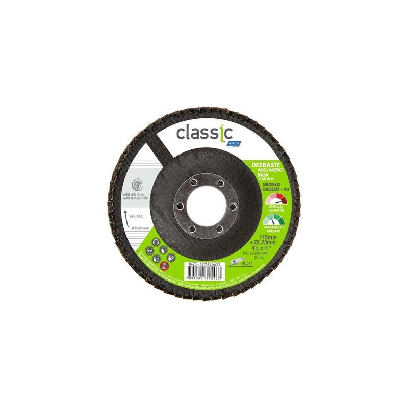DISCO FLAP 115 G40 R801 CLASSIC NORTON