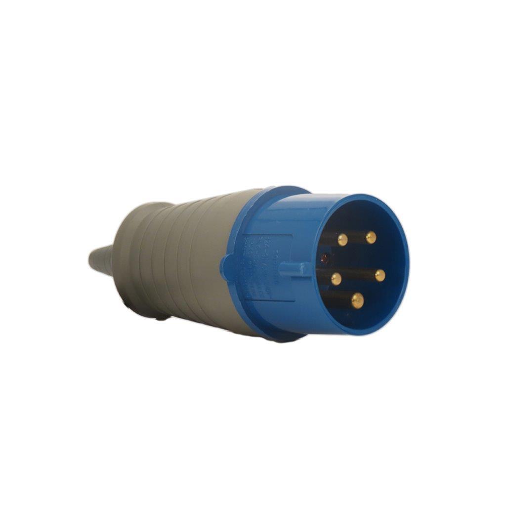PLUG MACHO 2P+T 32A 220/240V IP44 6H IEC 60390 AZ PLS N3276 SOPRANO