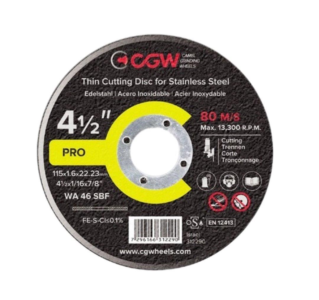 DISCO CORTE FERRO/INOX 4.1/2X1.0 WA46S (BNA12) CGW