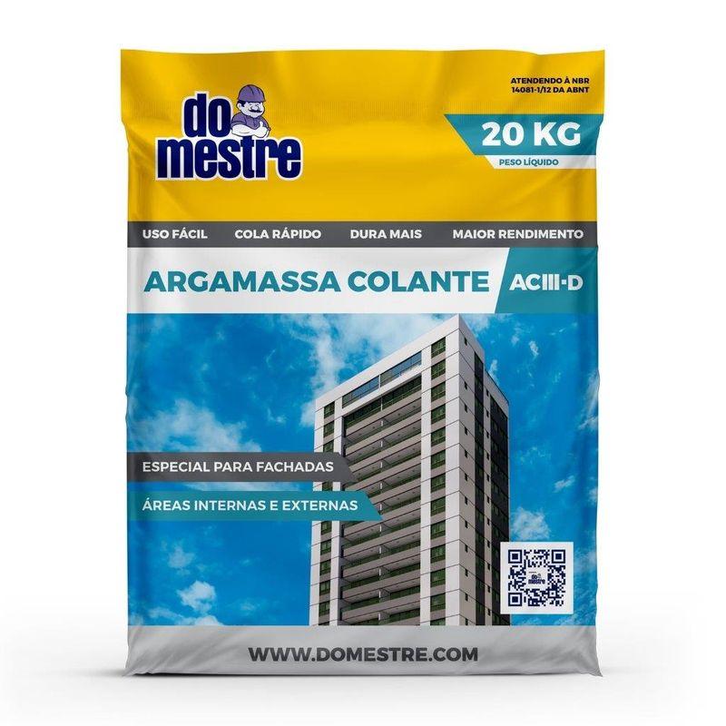 ARGAMASSA AC3 SACO C/ 20KG DO MESTRE