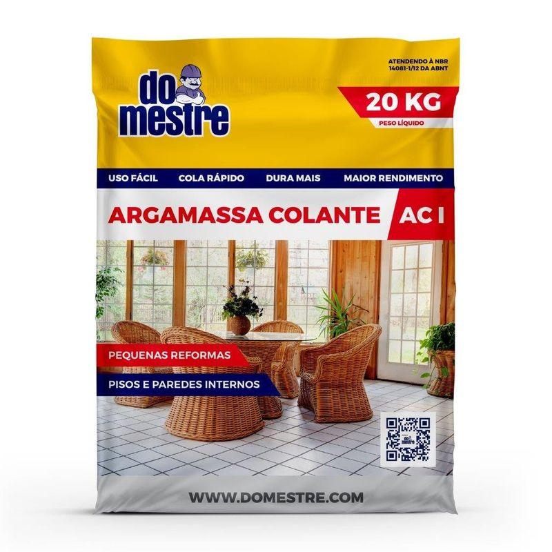 ARGAMASSA AC1 SACO C/ 20KG DO MESTRE