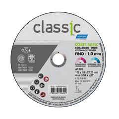 DISCO CORTE FERRO/INOX 4.1/2 AR101 1.0 CLASSIC BASIC NORTON