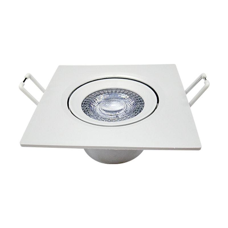 SPOT EMBUTIR LED QUADRADO 88X88 5W AVANT