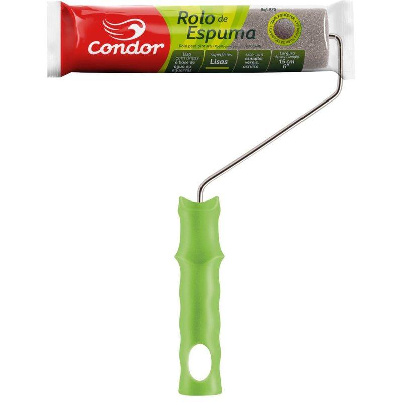 ROLO ESPUMA COMPLETO CABO METAL (ESM SINT) 975/15CM CONDOR