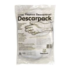 LUVA PLASTICA TRASN DESC PCT/100 T/U DESCARPACK