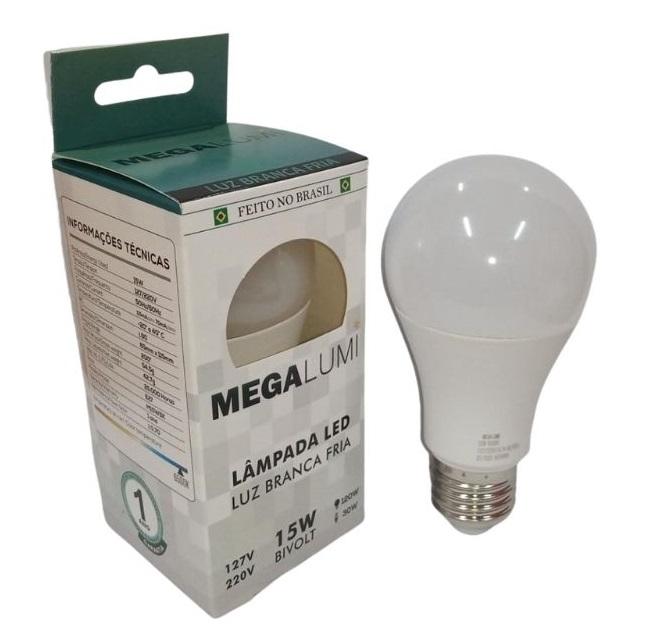 LAMPADA LED BULBO 15W MEGA LUMI