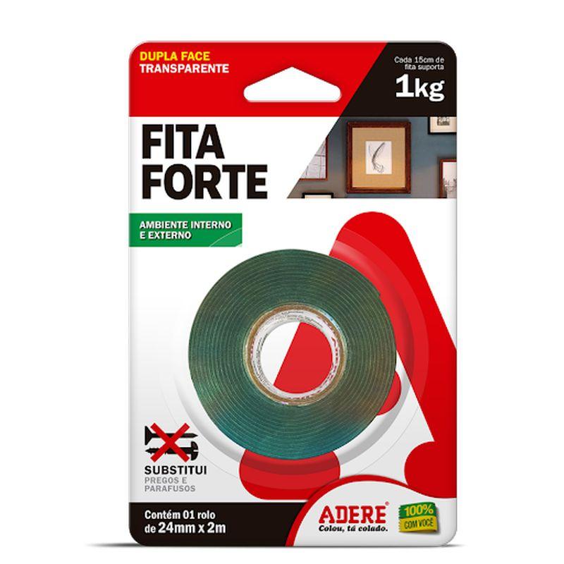 FITA DUPLA FACE 12X2 FITA FORTE TRANSP ADERE