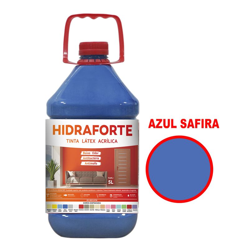 TINTA ACRILICA INT ECON 5LT AZ SAFIRA HIDRAFORT