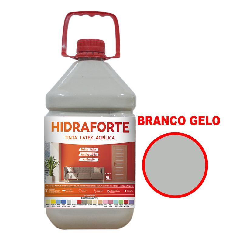 TINTA ACRILICA INT ECON 5LT BR GELO HIDRAFORT