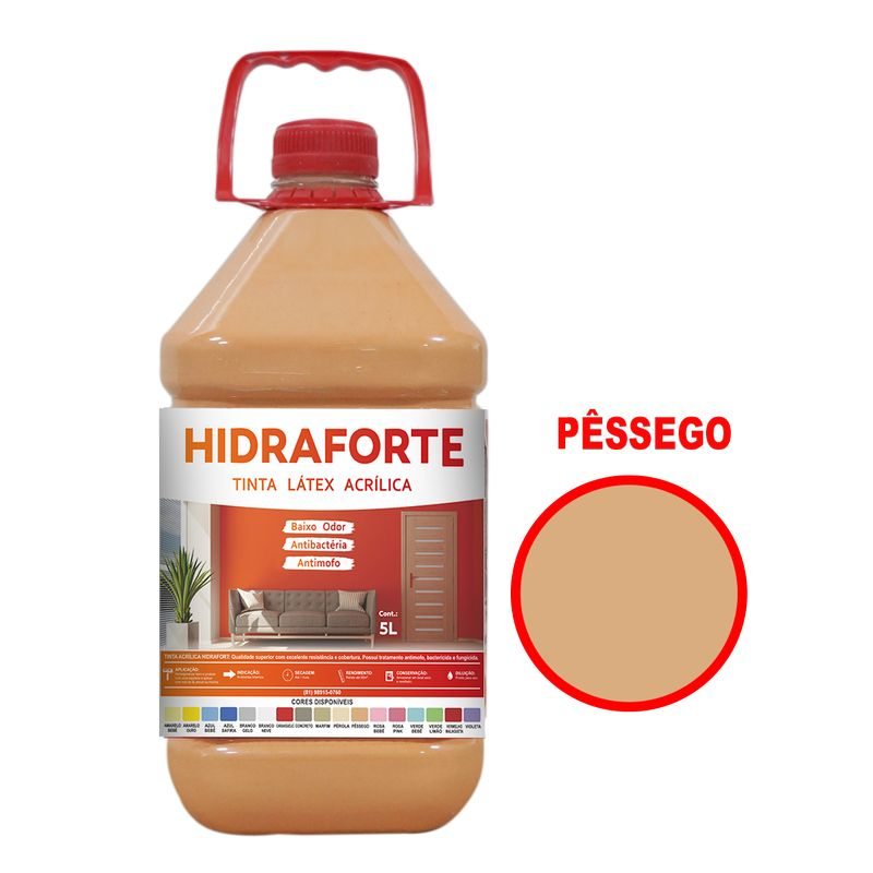 TINTA ACRILICA INT ECON 5LT PESSEGO HIDRAFORT