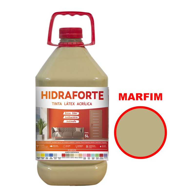 TINTA ACRILICA INT ECON 5LT MARFIM HIDRAFORT