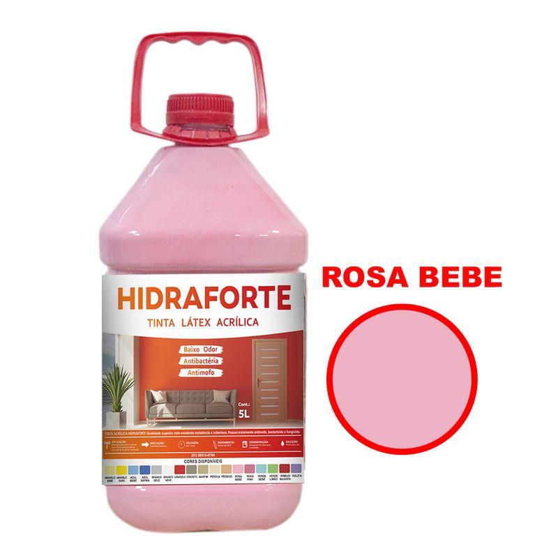 TINTA ACRILICA INT ECON 5LT ROSA BEBE HIDRAFORT