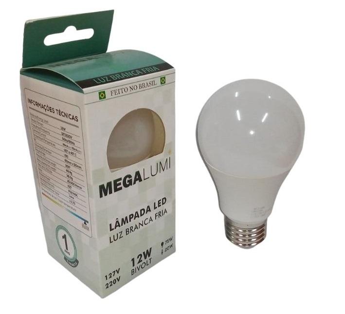 LAMPADA LED BULBO 12W MEGA LUMI