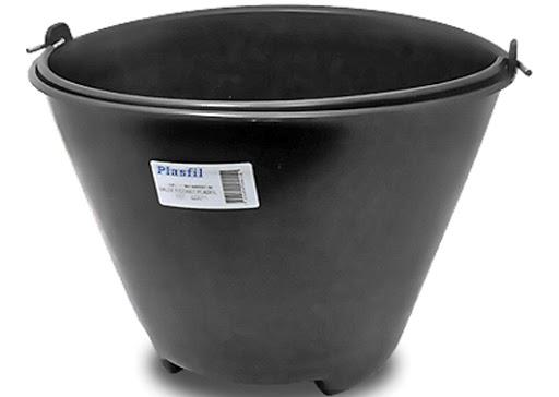 BALDE CONSTRUCAO PLASTICO 10L HASTE METAL PLASFIL