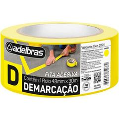 FITA DEMARCACAO AREA 48X30 AMARELA 910 ADELBRAS