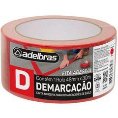 FITA DEMARCACAO AREA 48X30 VERMELHA 910 ADELBRAS